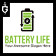 Battery Life Logo Template - GraphicRiver Item for Sale