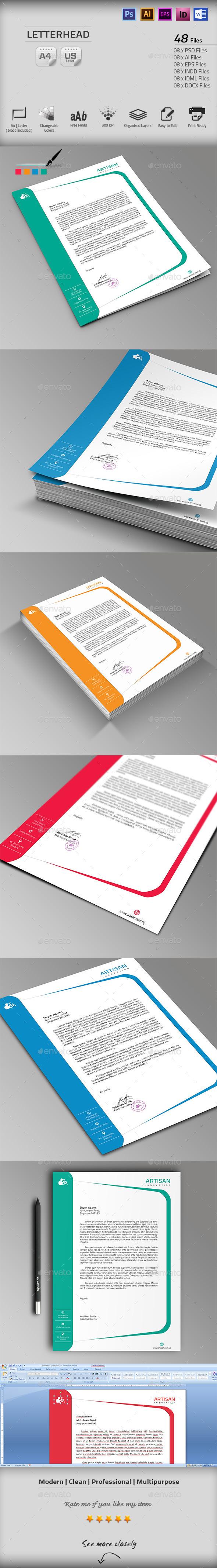 GraphicRiver Letterhead 10111238