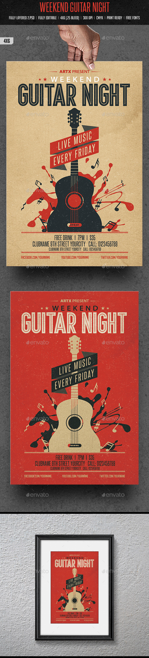 GraphicRiver Weekend Guitar Night 10111242