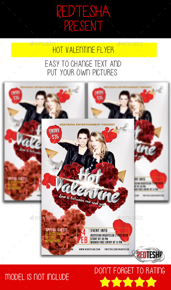 GraphicRiver Hot Valentine Flyer 10054145