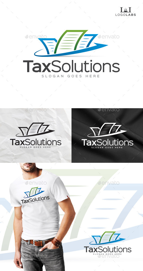 GraphicRiver Tax Solutions Logo 10111301