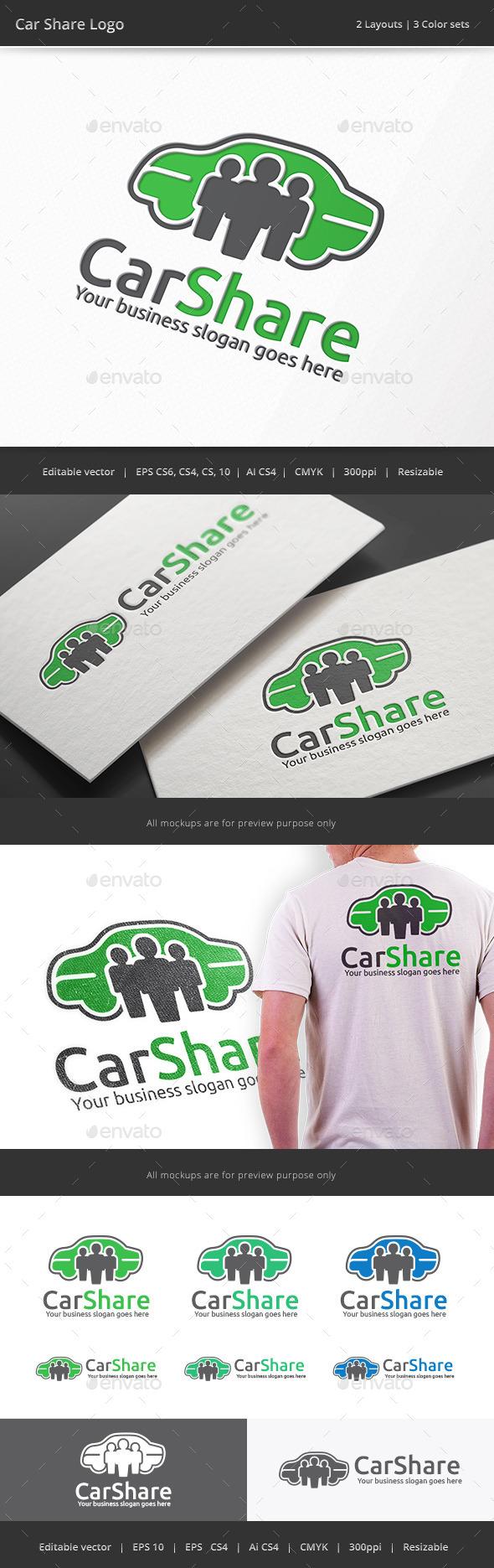 GraphicRiver Car Share Logo 10111448