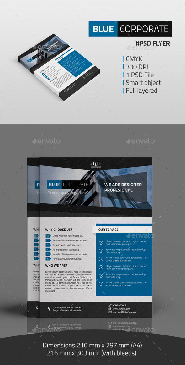GraphicRiver Blue Corporate Flyer 10111482