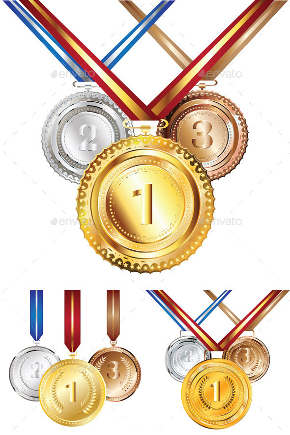 GraphicRiver Golden Silver and Bronze Medal 10111763