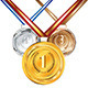Golden Silver and Bronze Medal - GraphicRiver Item for Sale