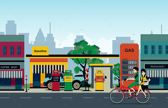 GraphicRiver Petrol Station 10111864