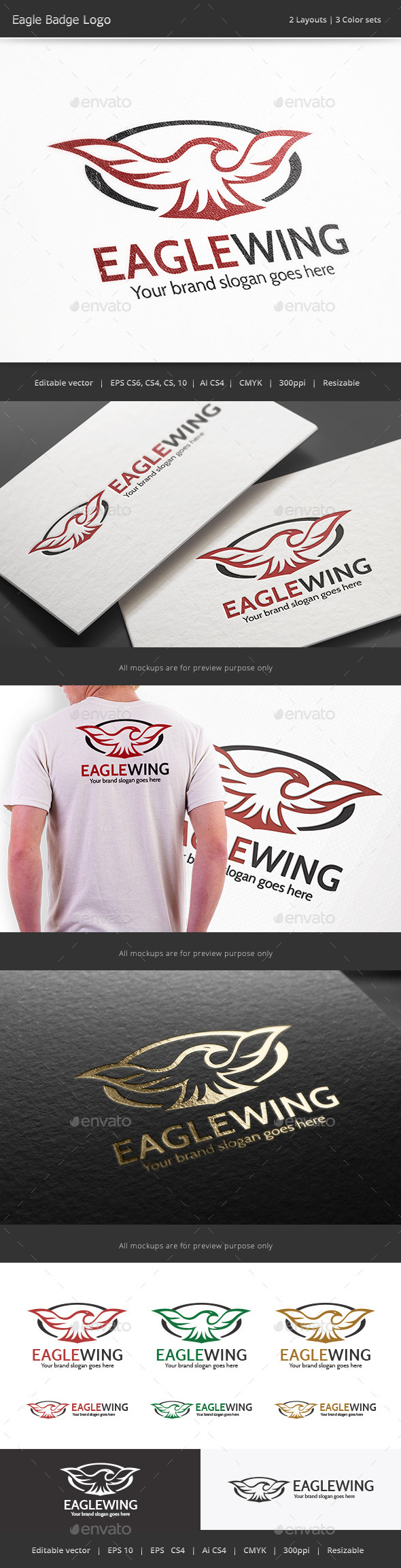 GraphicRiver Eagle Badge Logo 10112044
