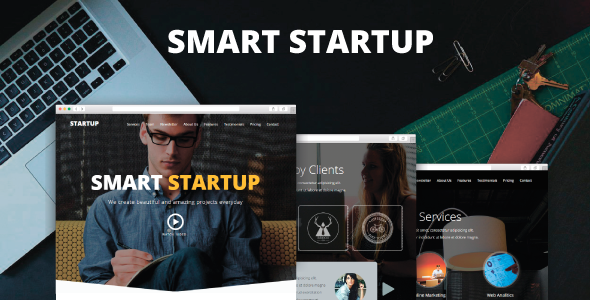 ThemeForest Smart Startup Creative Muse Template 10112319