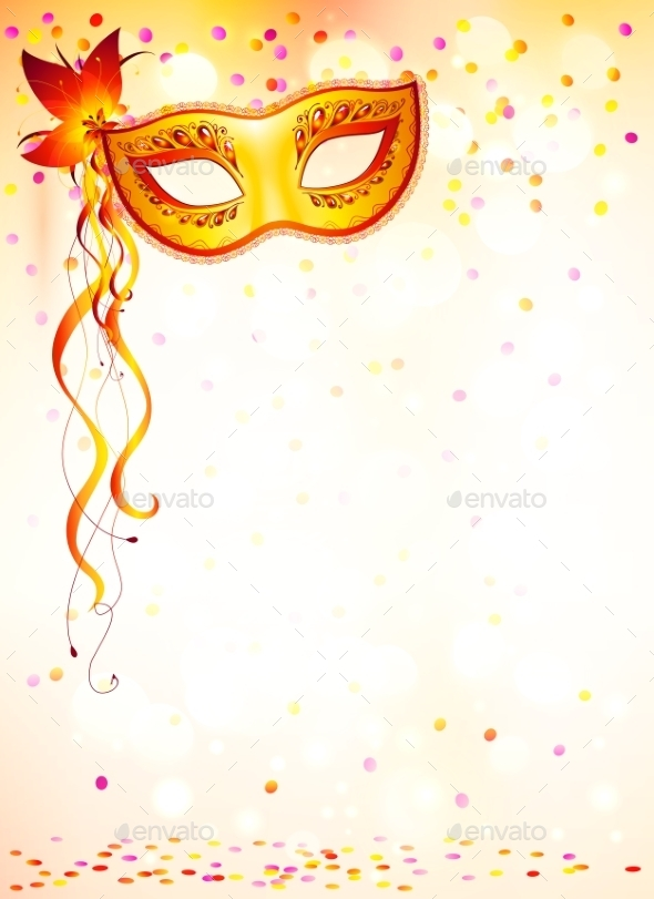 GraphicRiver Orange Carnival Mask 10112380