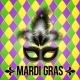 Black Mardi Gras Mask with Feathers - GraphicRiver Item for Sale