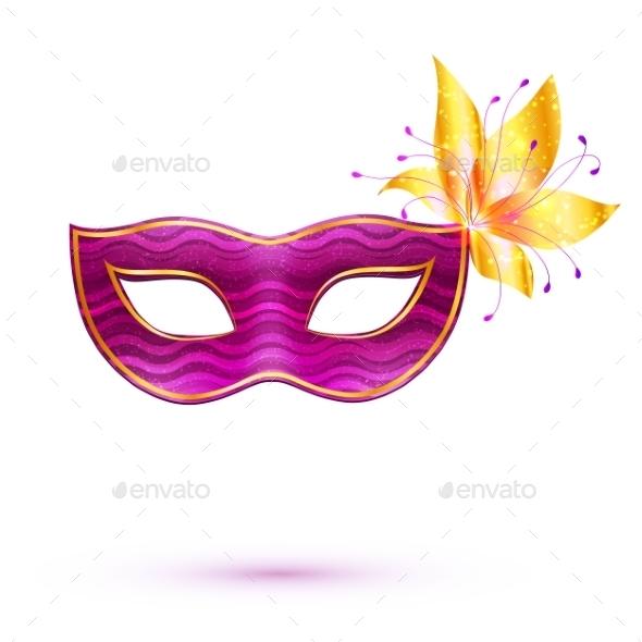 GraphicRiver Purple Carnival Mask 10112435