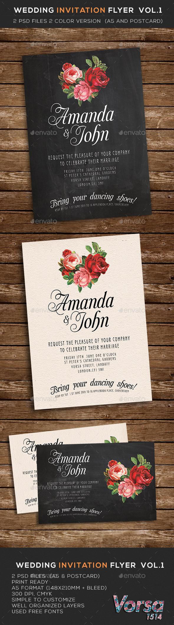 GraphicRiver Wedding Invitation Flyer vol.1 10112521