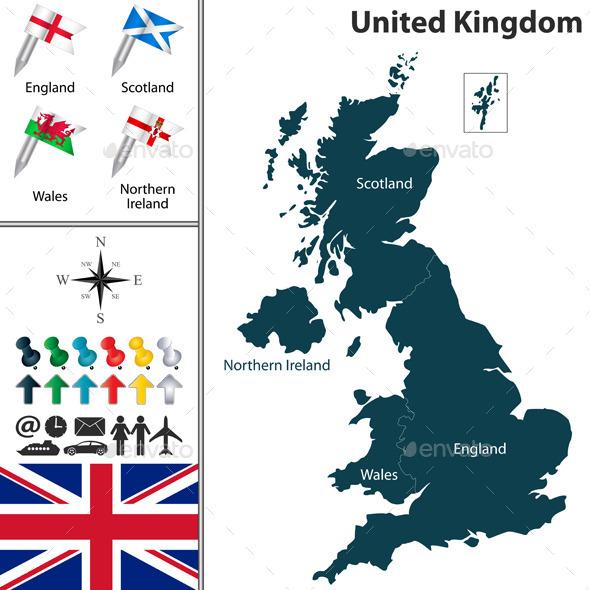 GraphicRiver Map of United Kingdom 10112567