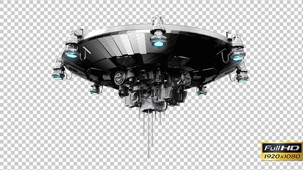VideoHive Alien`s Spaceship View 2 10112710