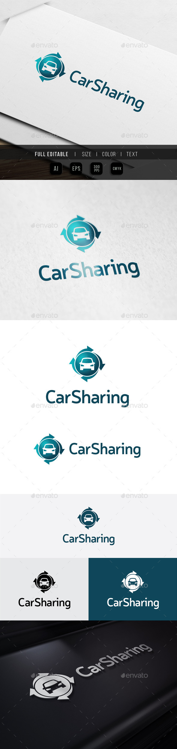 GraphicRiver Car Sharing Auto Repair 10112756