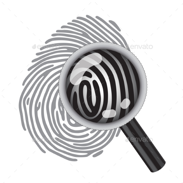 GraphicRiver Finger Print with Magnifying Glass 10112816