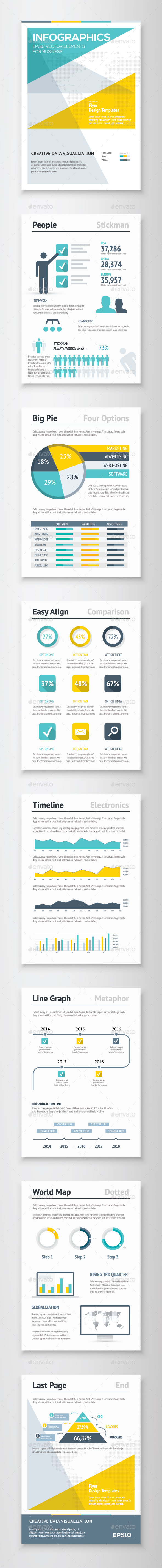 GraphicRiver Infographic Brochure Vector Elements Kit 4 10112841