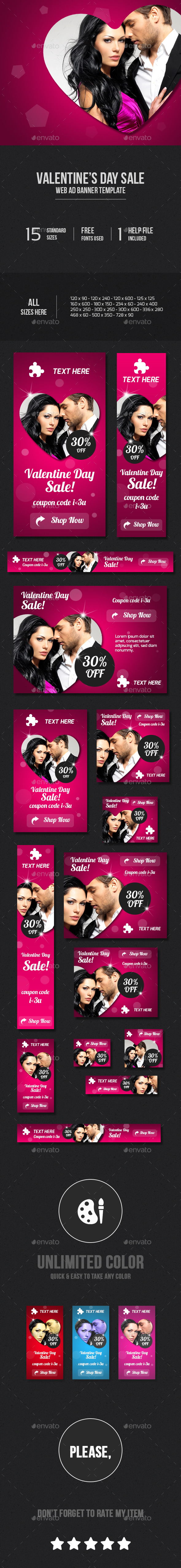 GraphicRiver Valentine s Day Web Ad Banners 10112845