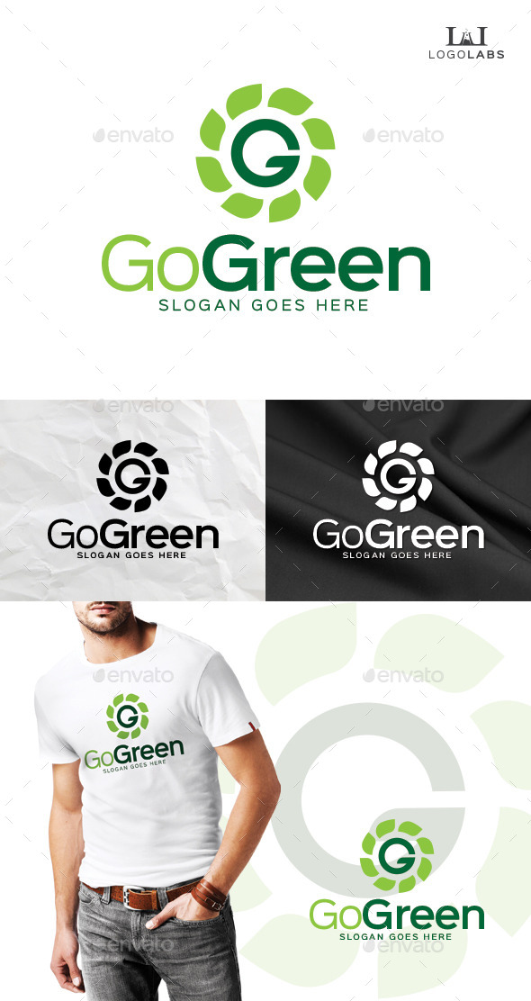 GraphicRiver Go Green Logo 10112868