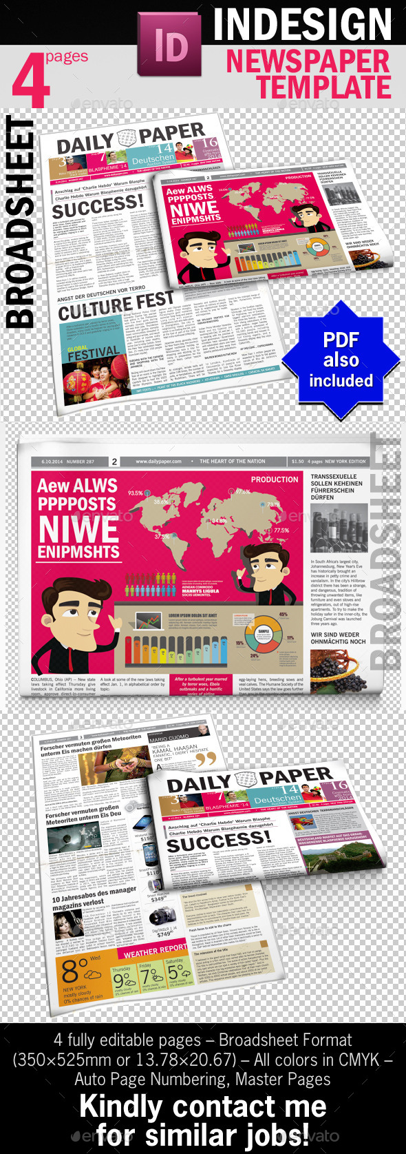 GraphicRiver DailyPaper Newspaper Template 9956032