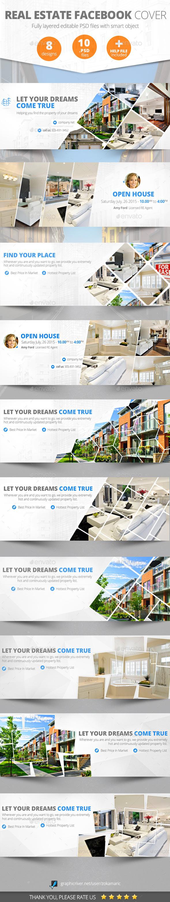 GraphicRiver Real Estate Facebook Cover 10113017