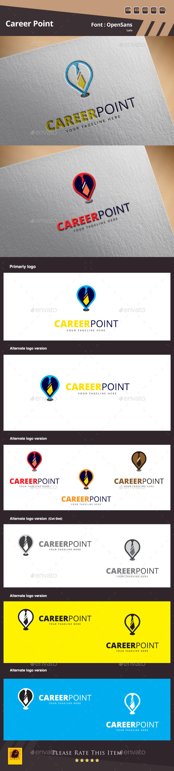 GraphicRiver Career Point Logo Template 10113245