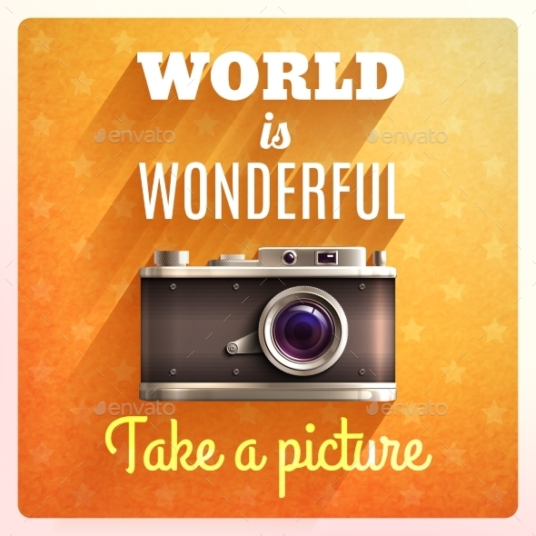 GraphicRiver Retro Camera Poster 10113340
