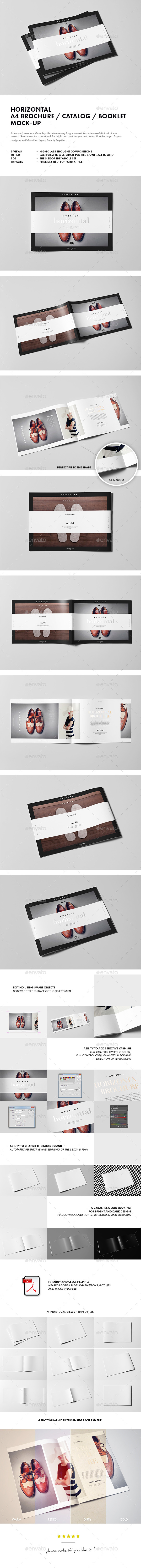 GraphicRiver Horizontal A4 Brochure Catalog Booklet Mock-up 10113385