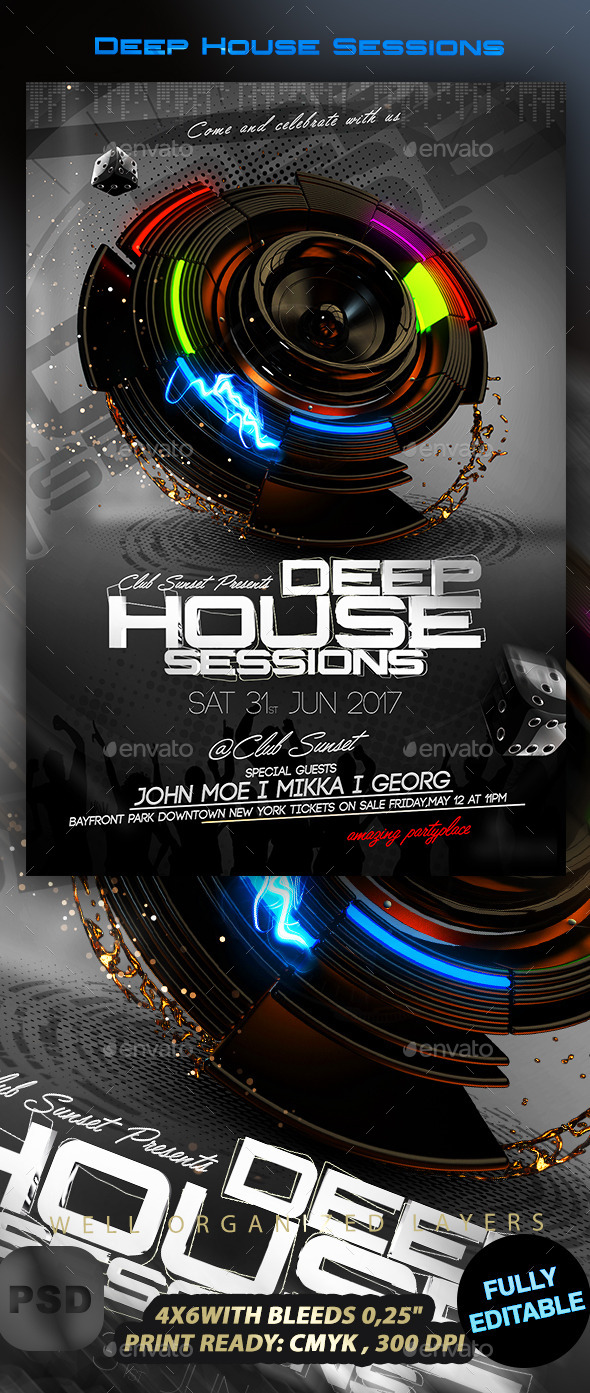 GraphicRiver Deep House Sessions 10113395