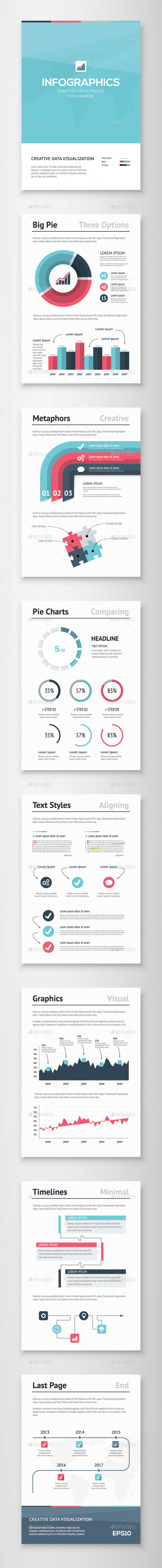 GraphicRiver Infographic Brochure Vector Elements Kit 5 10113424