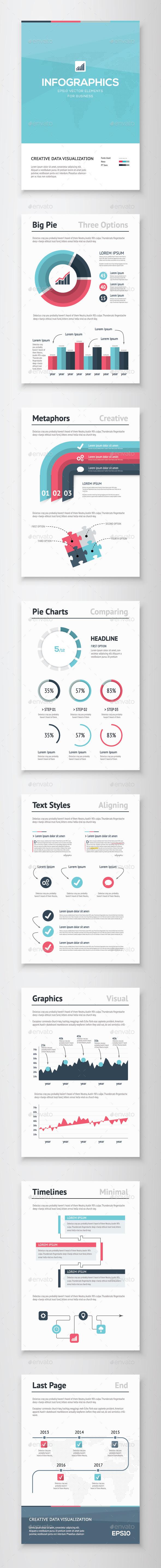 Infographic Brochure Vector Elements Kit 5