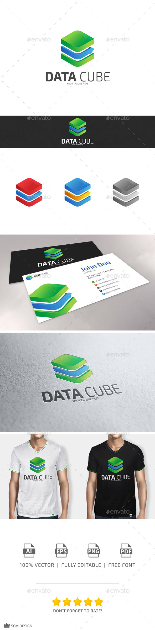GraphicRiver Data Cube Logo 10113429