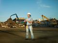 worker analyzing recycling progress - PhotoDune Item for Sale