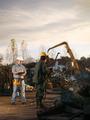 workers at scrap metal junkyard - PhotoDune Item for Sale