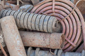 stack of rusted pipes - PhotoDune Item for Sale
