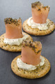 salmon rolls with soft cheese on cracker - PhotoDune Item for Sale