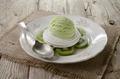 kiwi ice cream on meringue - PhotoDune Item for Sale