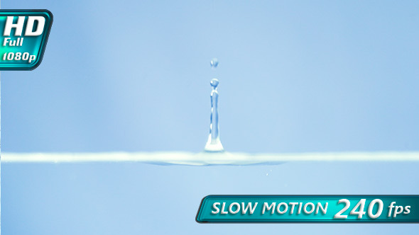 VideoHive Falling Drops of Water 10114053