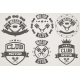 Set of Vintage Motor Club Signs and Label - GraphicRiver Item for Sale