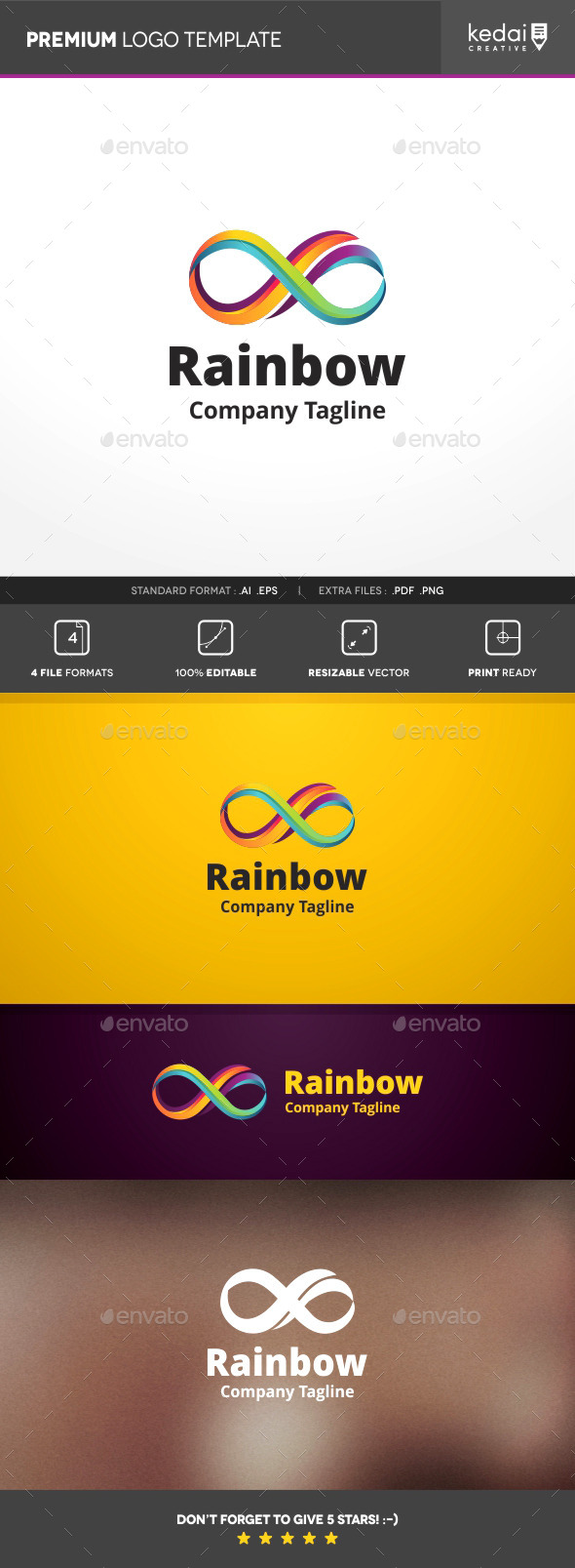 GraphicRiver Rainbow Infinity 10114426