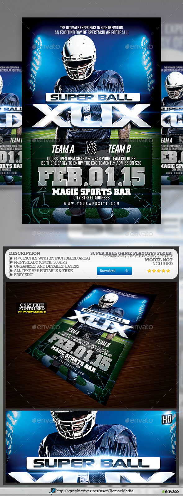 GraphicRiver Super Ball Playoffs Game 10114652