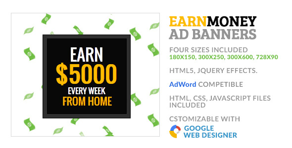 Earn Money Freelancer GWD HTML5 Ad Banner