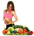 Balanced diet based on raw organic vegetables and fruits - PhotoDune Item for Sale