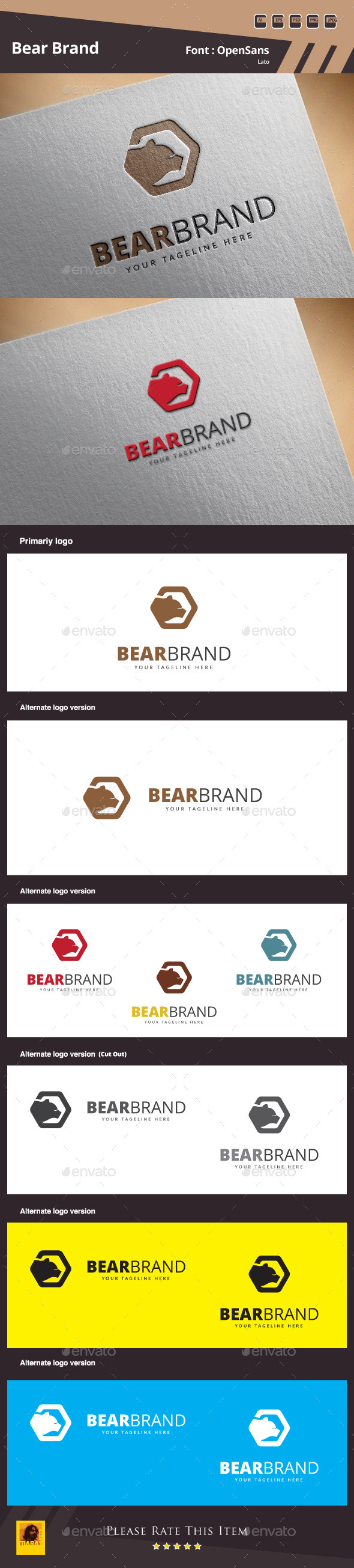 GraphicRiver Bear Brand Logo Template 10115142