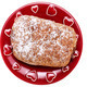 Croissant on red plate - PhotoDune Item for Sale