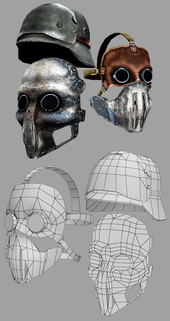 3DOcean Mask and Helmet 10115237