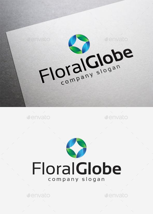 GraphicRiver Floral Globe Logo 10115419