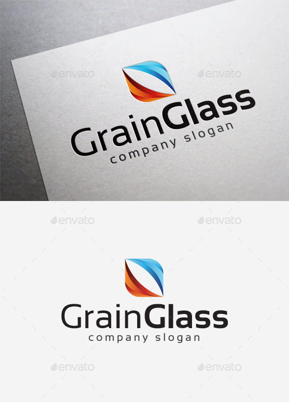 GraphicRiver Grain Glass Logo 10115433