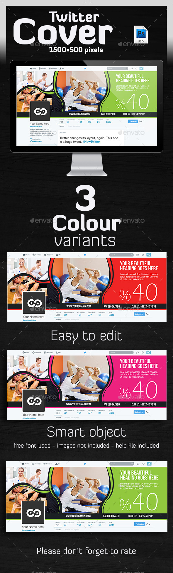 GraphicRiver Multipurpose Twitter Header 10115439