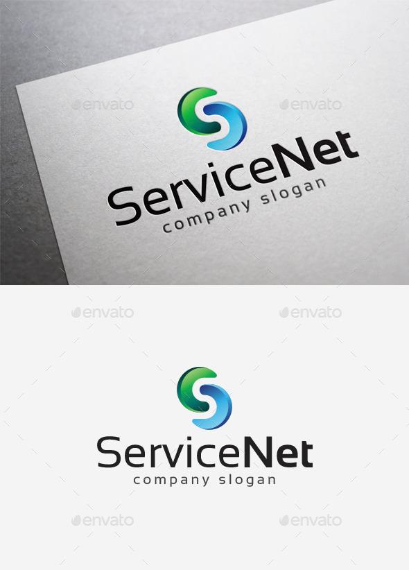 GraphicRiver Service Net Logo 10115441
